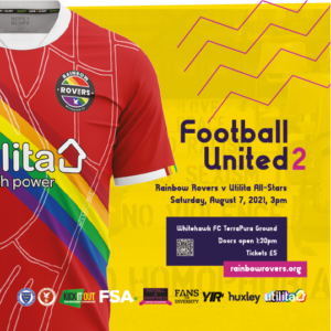 Ranbow Rovers shirt with 'Football United 2' title and August 7th date.