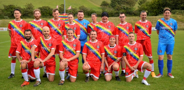 The Rainbow Rovers team lines up